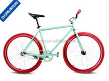 OEM offered colorful 700C single speed steel frame fixed bike for girl