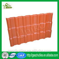 low price Lasting color synthetic resin chinese villa roof tile