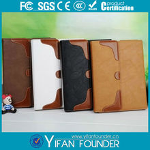 Cheap retro leather for ipad 2 3 4 leather cover case