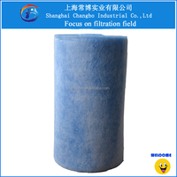 blue and white polyester fiber air ventilation filter roll and mat