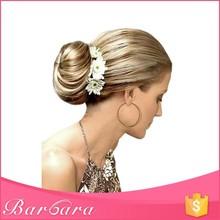 Barbara low MOQ factory wholesale synthetic clip blonde hair bun pieces