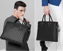 "Customized your logo cowhide leather business men handbag 14"" fashion leather laptop bag"