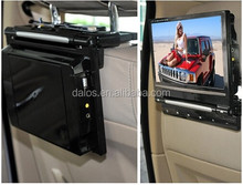 """Black 9"""" Universal HD Touch Screen Plug-in Car Headrest Monitor DVD Player Games"""