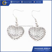 FE0056 Huggie Heart Stainless steel Earrings nets heart style