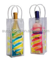 Fashion Shining Yellow PVC Clear Ice Bag for Wine/Beer Bag