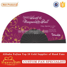 Artwork or Design Printed Personalized Plastic Hand Fan