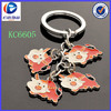 2014 alibaba on line shopping metal material main type high quality cheap custom cattle key chain