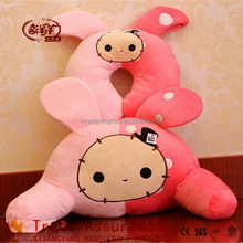 lovely cute neck cushion plush toys stuffed rabbit pillow