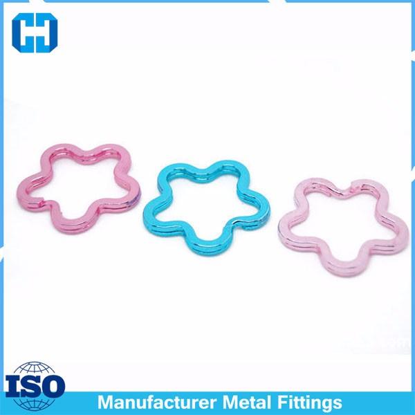 flower split key ring