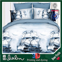 Bedding manufacturers Jiangsu china 3d printed bed sheet with fashion dress made in turkey
