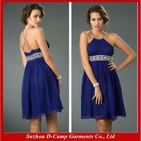 OD-338 Royal blue party dress china sana safinaz chiffon party dresses