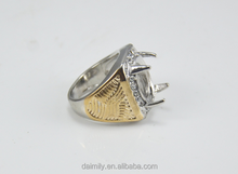 Crazy selling Indonesia brass ring models ring stone for men