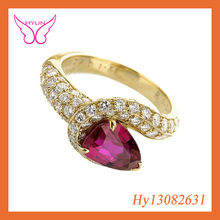 GOLD RUBY FINGER RINGS FASHION GOLD DIAMOND WITH RUBY FINGER RING