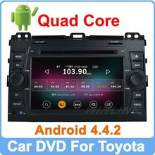 Ownice Pure Android 4.4.2 Quad Core 1.6GHz touch screen dvd for toyota land cruiser Built-in Wifi+16GB Flash