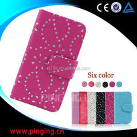 china supplier phone cases snow flower cover leather case for Huawei U9200E