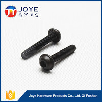 Black white plated hex slotted outer round bolt allen serration bolt