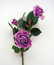 Purple fashion style wedding flower artificial rose