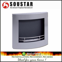 Modern European white marble carved electric fireplace