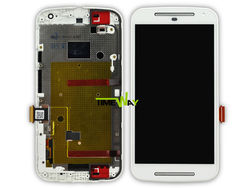 Hot selling!!! wholesale for motorola moto g2 lcd screen replacement(with frame)
