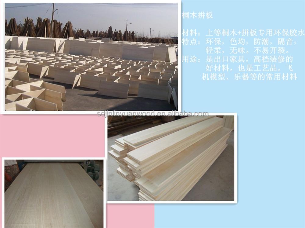 factory sell Paulownia edge glued board