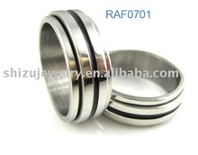 two tone stainless steel ring for successful peoples