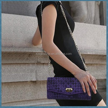 Doulbe Color Sheepskin Woven Real Leather Purse for Fashion Ladies