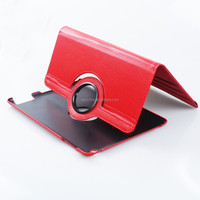 2015 Premium PU Leather Flip Folio Cover Rotate 360 degrees Leather Case for iPad Air 2 red