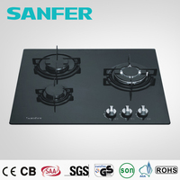 Italian SABAF Burner or copy 3 burner Italy gas stove glass top