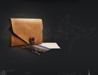 Brown Leather tablet computer Case, leather case for dell tablet, tablet universal case
