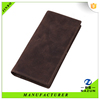 custom high quality leather long pattern wallet for men