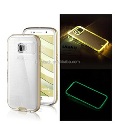 For Samsung Galaxy S6 Flash Light Up LED Back Cover TPU Case for Samsung Galaxy S6