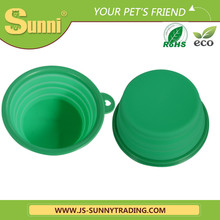 Health dog bowl with lid silicone collapsible bowl