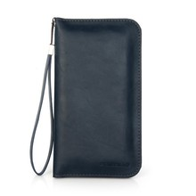 PU smart phone case for universal cell phone 5''6'' with hand strap