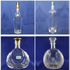 XO brandy ,vodka ,whisky ,rum glass bottle for spirits custom sticker printing