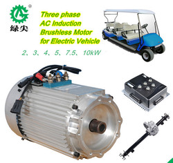 5KW 48V AC/DC motor for 14 seats sightseeing shuttle bus