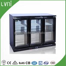 LVNI 200L,stainless steel back bar beer cooler,mini fridge/table top cooler