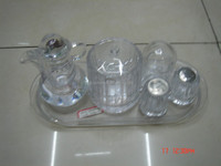 Heat-resistant exclusive cheap glass tea set for adults