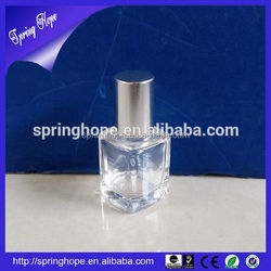 10ml ball shape glass nail polish bottle with red plastic cover