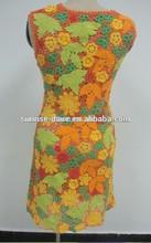 Patrón de la hoja vestido, vestido Multicolor