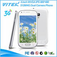 Alibaba China 4 inch IPS Panel Android 3G WCDMA GSM Dual SIM Smart Phone
