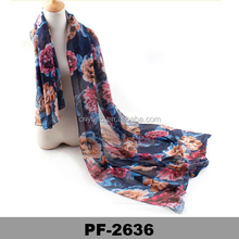 Fashion Women Long Print Cotton Scarf Wrap Ladies Shawl Girls Large voile floral scarf