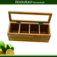 hot new style bamboo acrylic salt/tea box