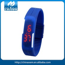 10 Colors Touch! Digital Touch Screen LED Unisex Silicone Sport Watch with Rubber Band