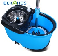 Bekahos 2- drives rotating 360 degree easy cleaning magic mop