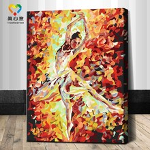 modern cartoon art oil painting 30x40cm flamenco dancing oil painting