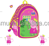 Pink Children Cute Peppa Pig Schoolbag