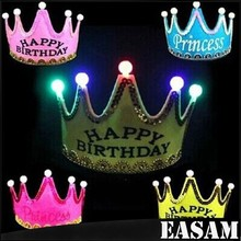 birthday party Hat,Light Prince and Princess Crown for children