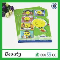 wholesale custom 2016 new design cartoon plastic PP A4 school office file folder cover