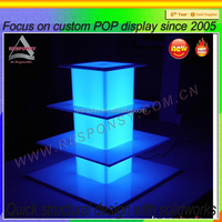 High up acrylic cake stands with LED lights