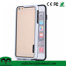 mobile phone accessory factory bumper frame case dual layer fancy cell phone case wholesale for iphone 6